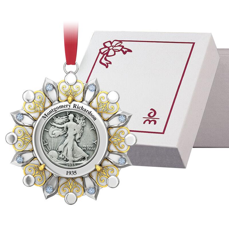 Birth Year Coin Ornament 10400 0013 g gift box