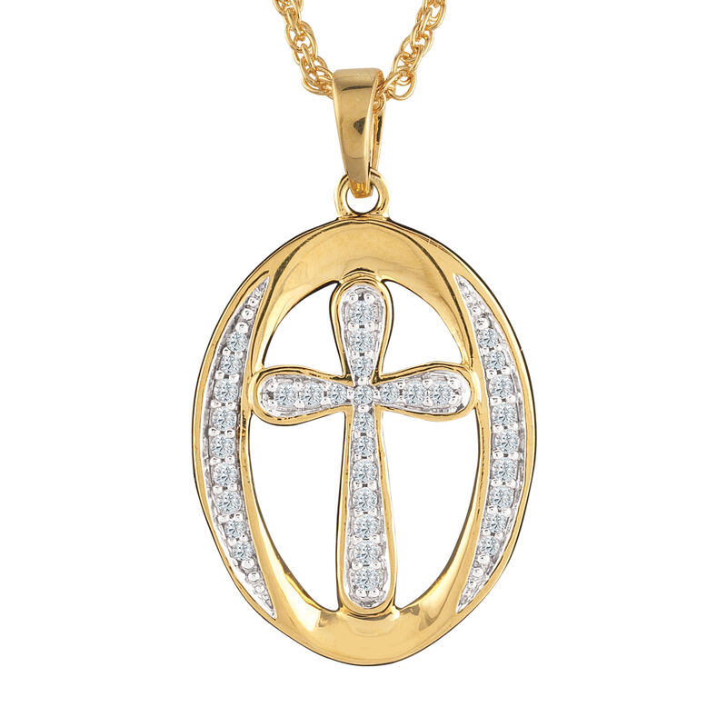 With God All Things Are Possible Infinity Oval Pendant 6750 0017 b front