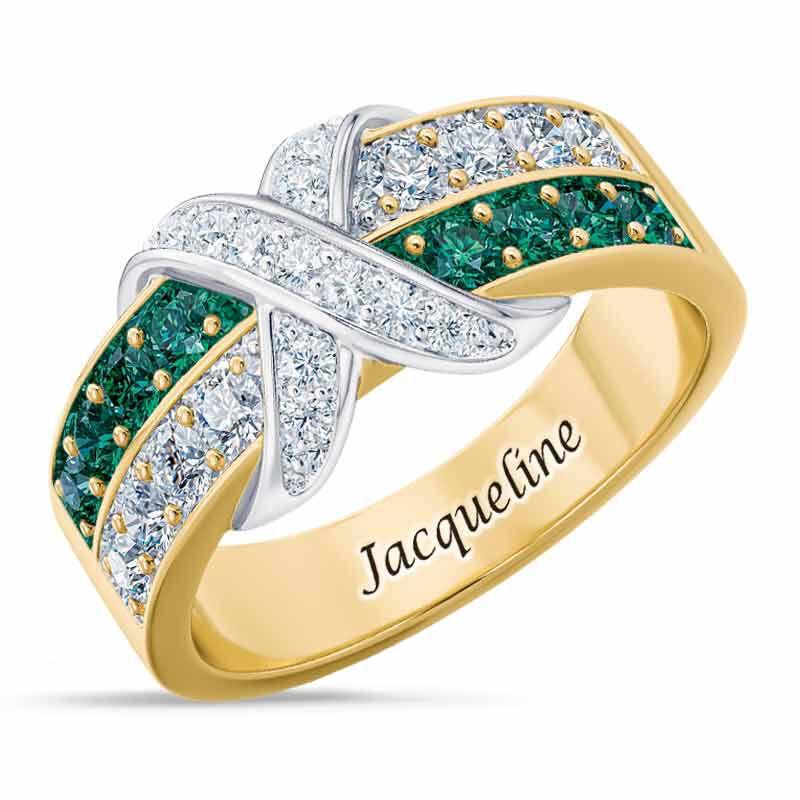 Birthstone Beauty Diamond Kiss Ring 6503 001 7 5