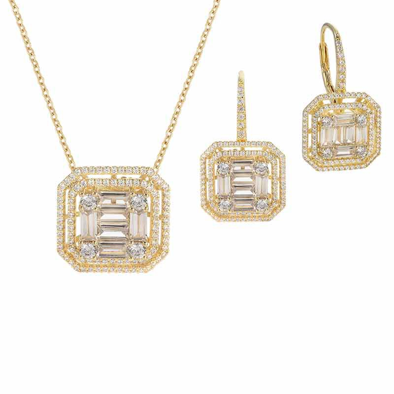 Refined  Radiant Necklace and Earring Set 6358 001 3 1