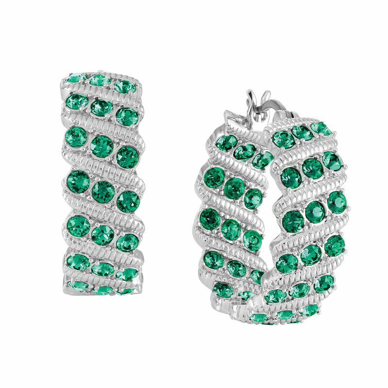 Birthstone Hoop Earrings 6003 0020 e may