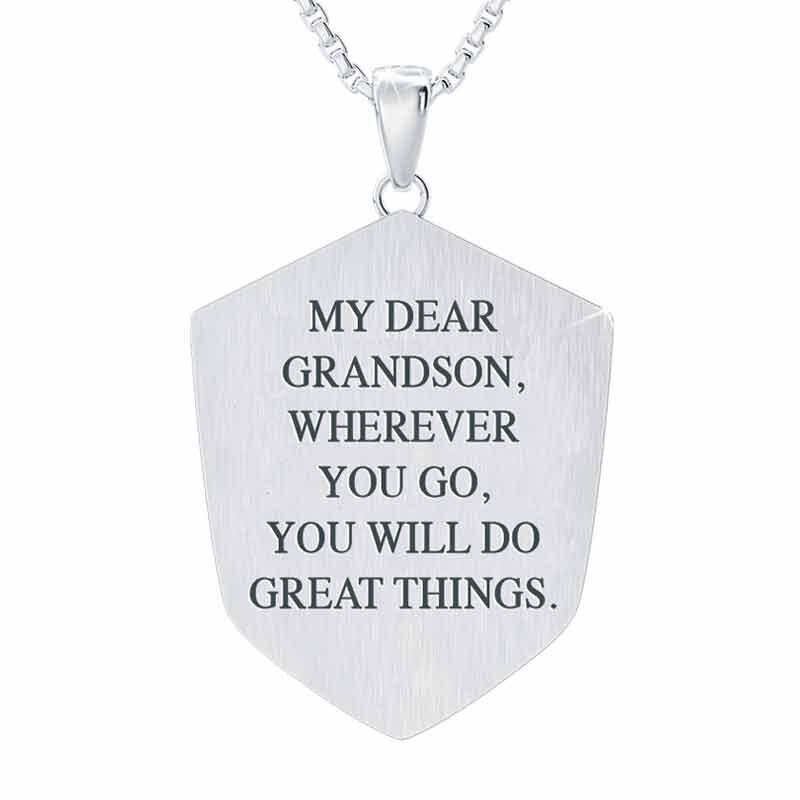 Blessed Grandson Shield Pendant 2258 001 3 2