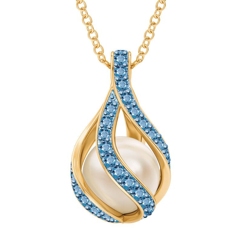 Loves Embrace Pearl Birthstone Necklace 10144 0014 l december