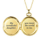 You Mean the World to Me Daughter Diamond Locket Pendant 10216 0017 d open