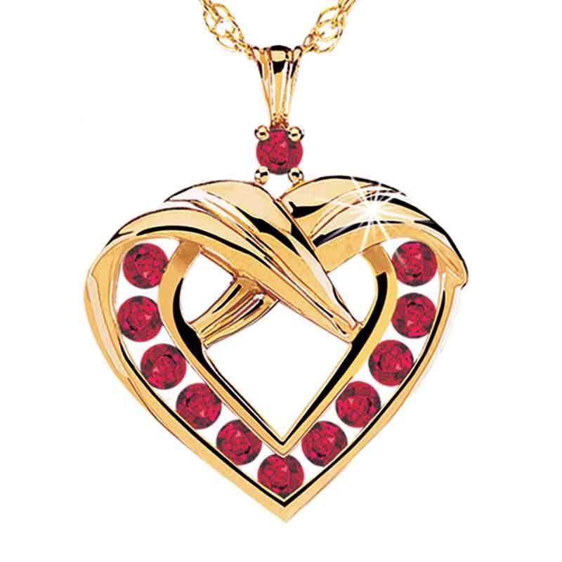 A Dozen Rubies Heart Pendant 9210 004 9 1