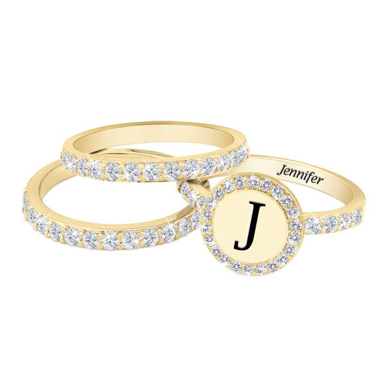 Stackable Initial Ring Set 1412 001 8 3