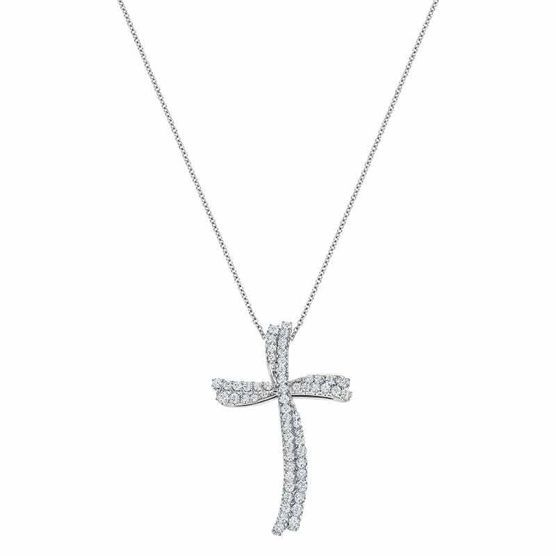 Diamond Divinity 14kt Gold Cross Pendant 6146 001 0 2