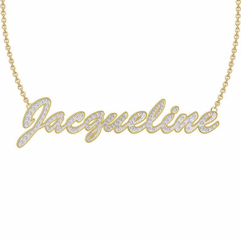 Personalized Swarovski Crystal Necklace 6573 001 2 1