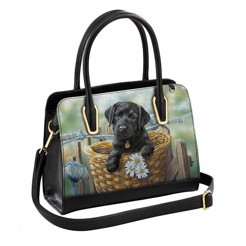 Black Labrador Hitching a Ride Handbag 5970 004 7 1