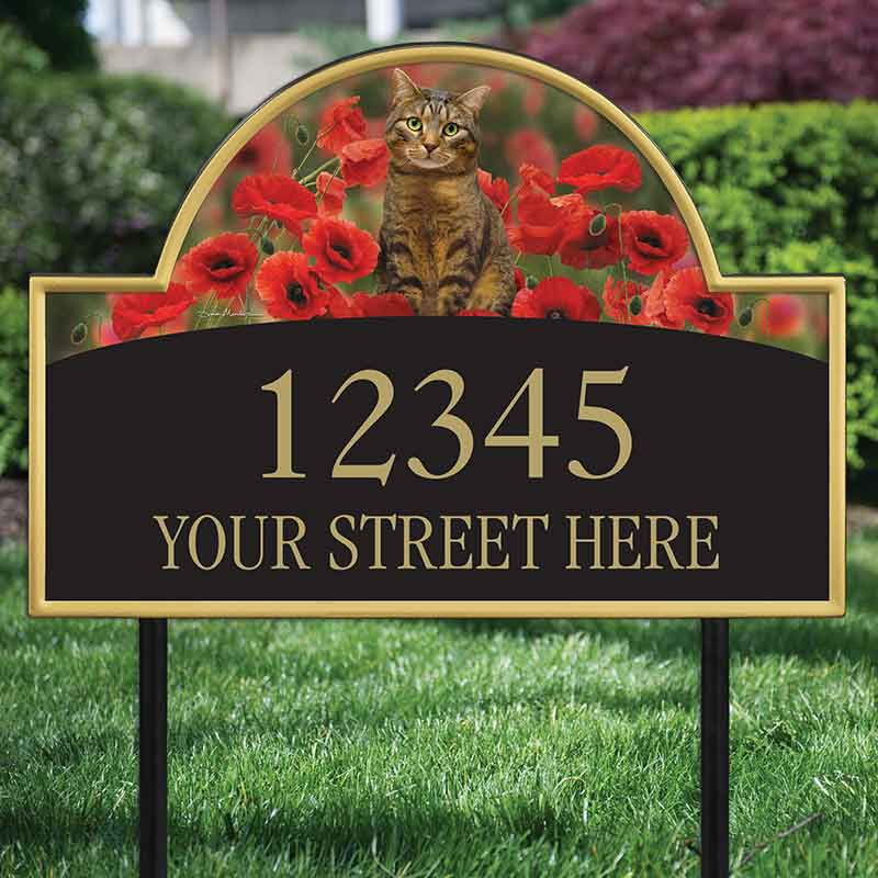 The Captivating Kitties Address Plaque by Simon Mendez 1088 005 2 2