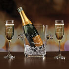 The Personalized Couples Champagne Set 10036 0023 b champagne dark green