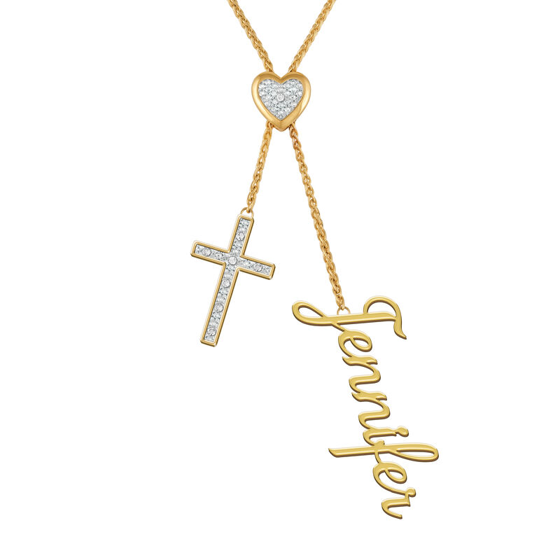 Personalized Cross Bolo Necklace 6513 0015 a main