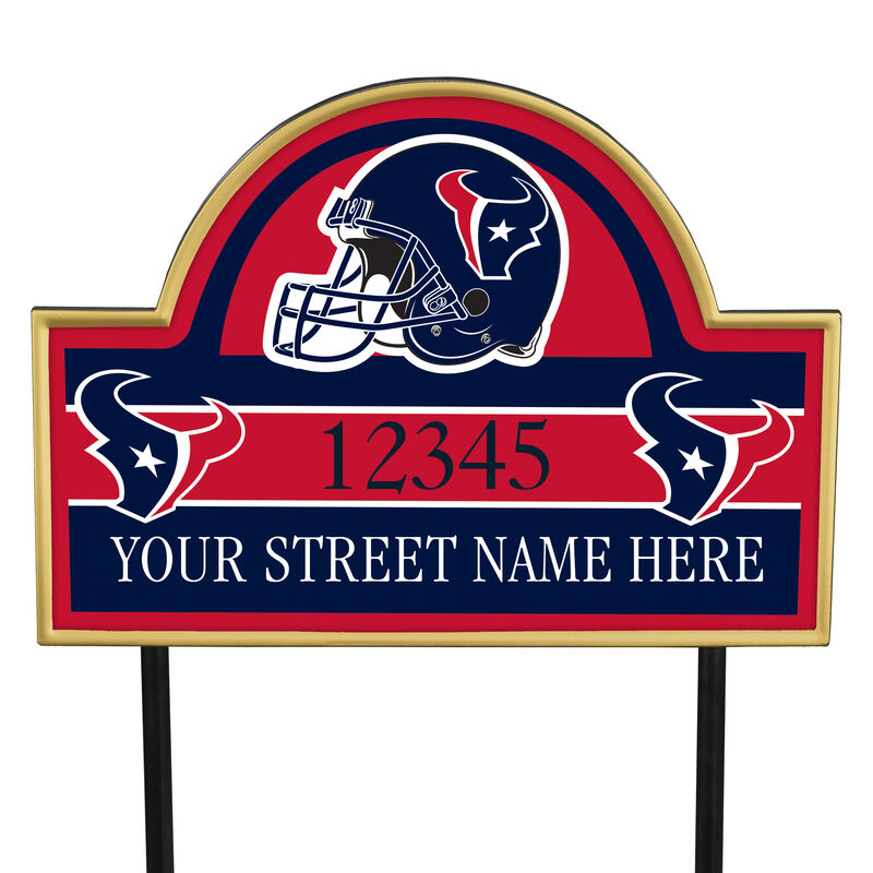 NFL Pride Personalized Address Plaques 5463 0405 a texans