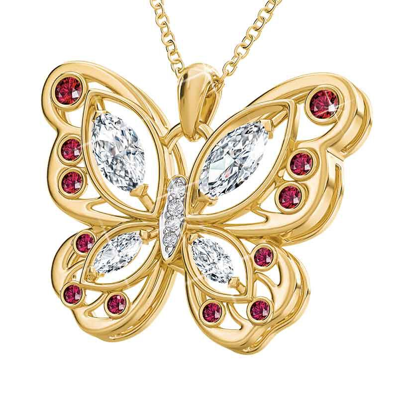 The Birthstone Butterfly Diamond Pendant 2030 001 8 13