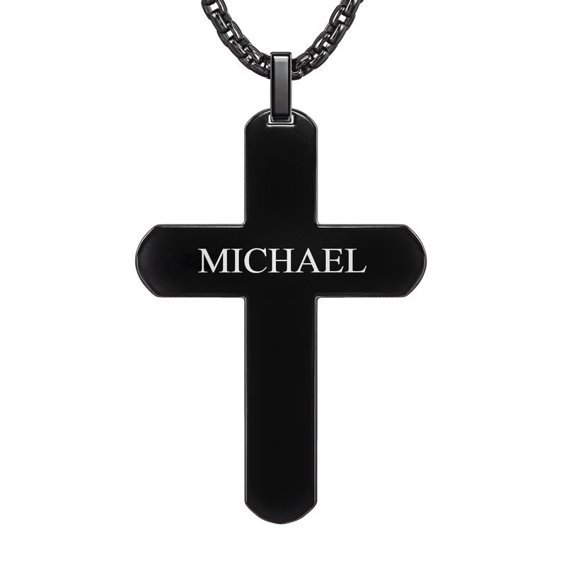 Black Ice Cross Pendant 10174 0017 c back