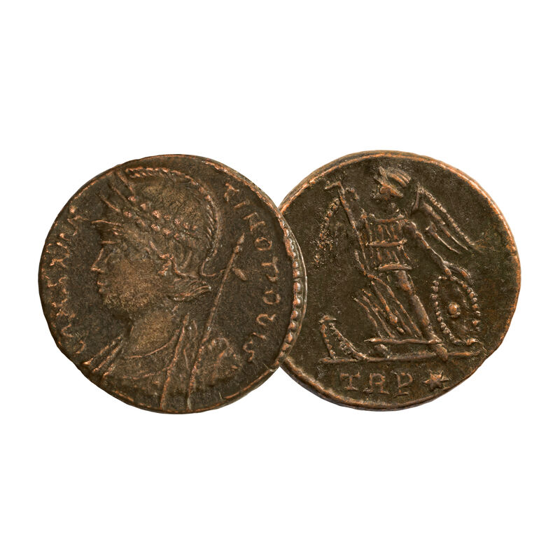 The Roman Empires First Coins of Christianity 6661 0015 b victory