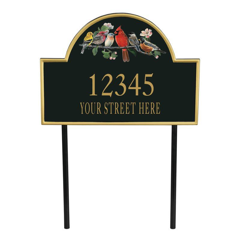 The Songbirds Personalized Address Plaque 1085 001 4 1
