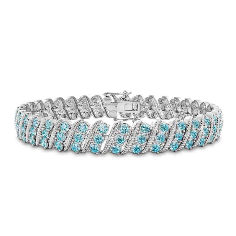 Bold  Brilliant Birthstone Bracelet 6003 001 2 3