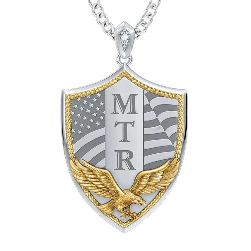 Americas Bravest Diamond Shield Pendant 5528 001 0 1