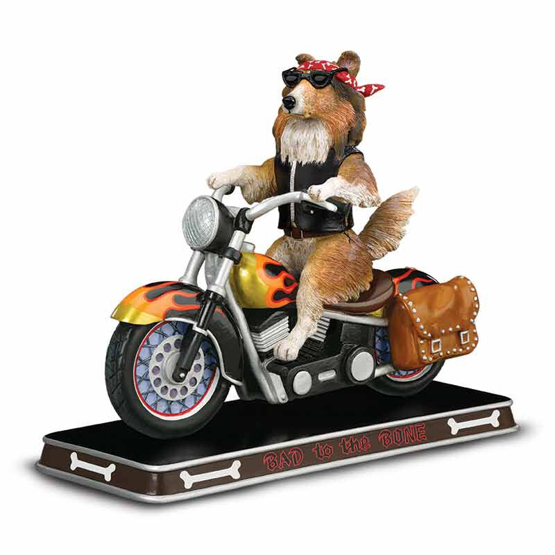 Bad to the Bone Sheltie Sculpture 2763 011 0 1