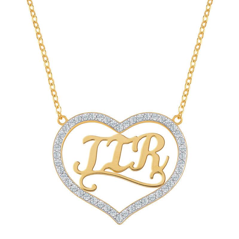 Personalized Monogram Heart Pendant 6857 001 9 1