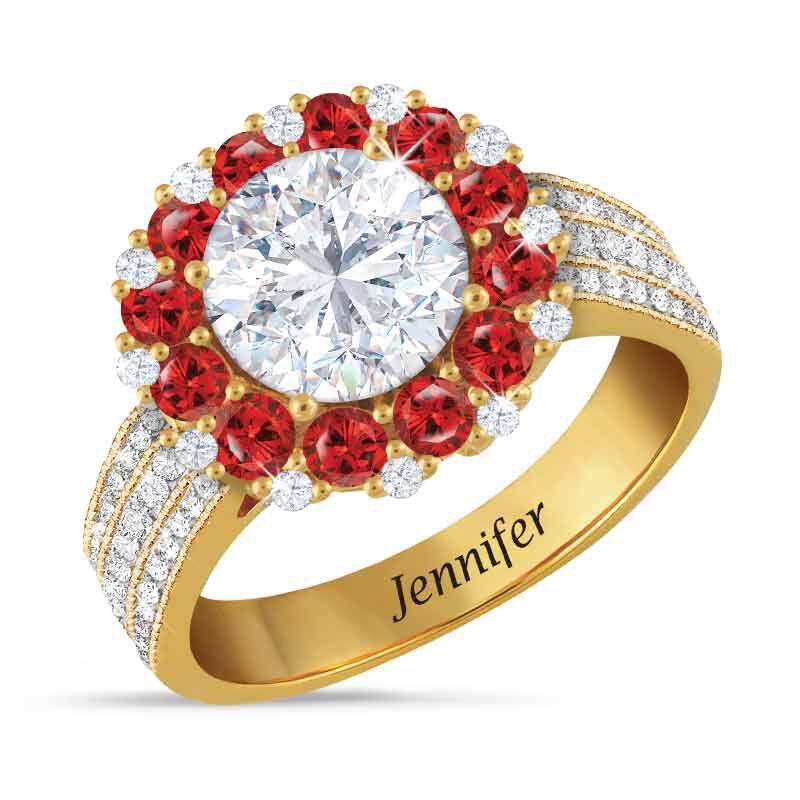 Birthstone Beauty Diamonisse Halo Ring 4924 001 3 7