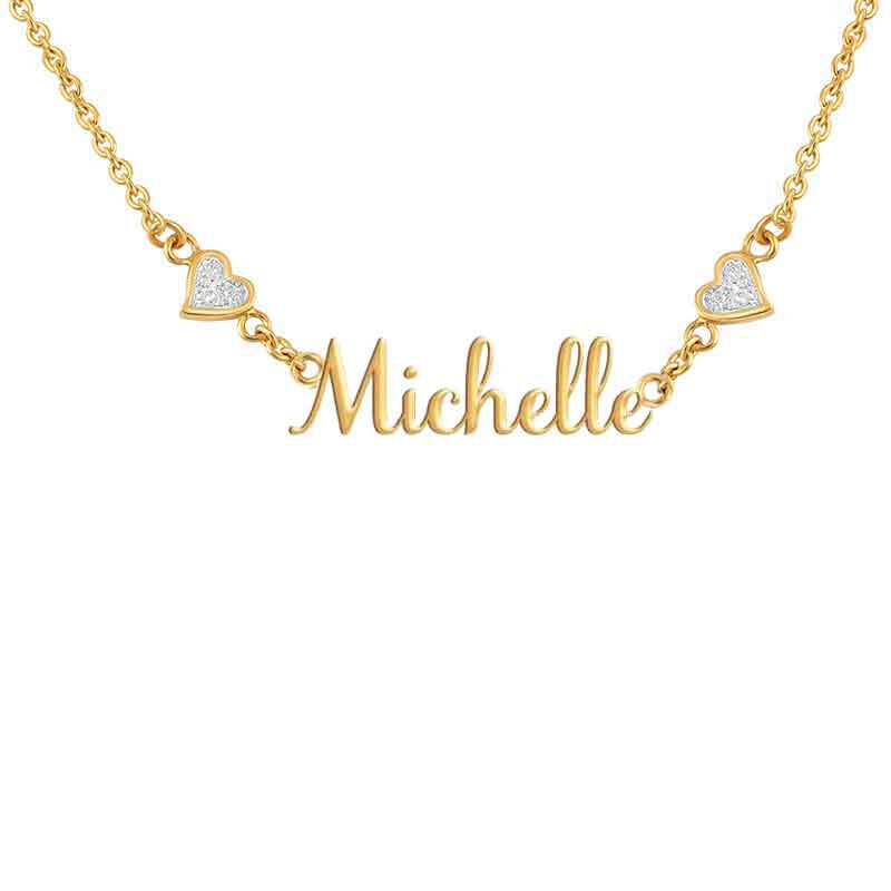 Personalized Diamond Name Necklace 1698 006 2 3