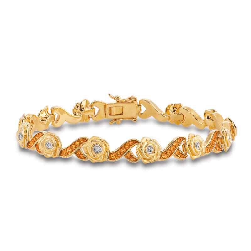A Dozen Roses Birthstone  Diamond Bracelet 6684 001 8 6