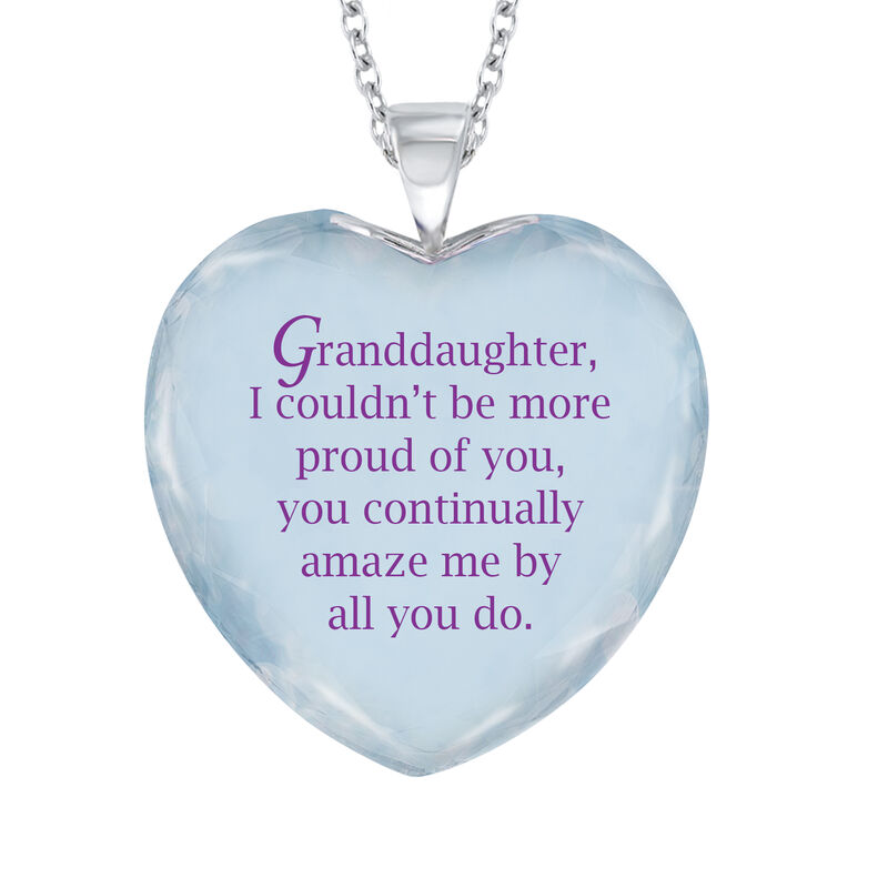 Forever Proud Granddaughter Crystal Pendant 6963 0010 c back