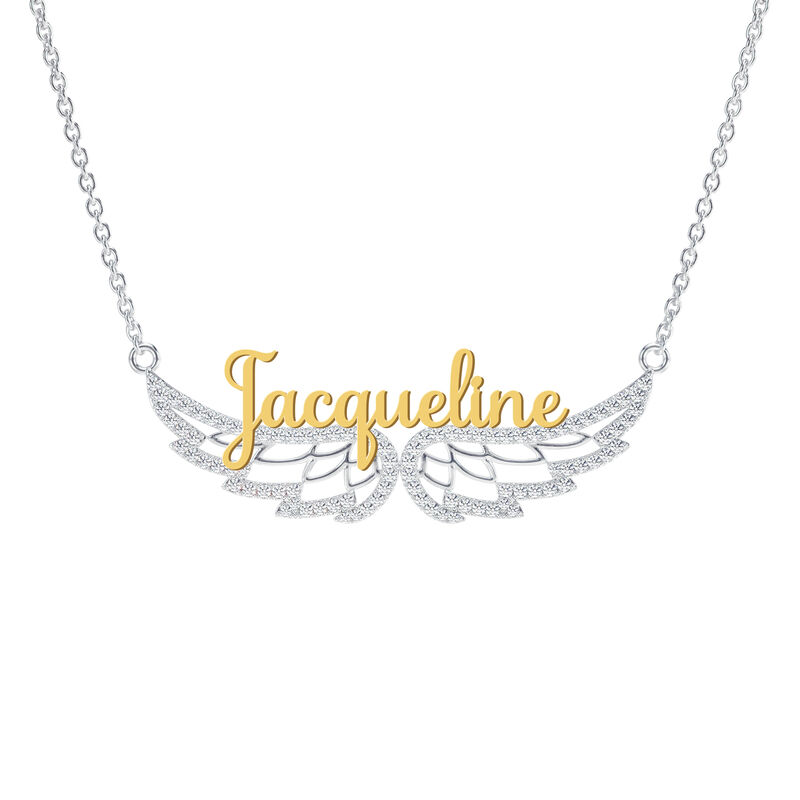 Granddaughter Personalized On Angel Wings Necklace 10372 0017 b jacqueline