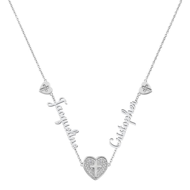 Our Love and Faith Diamond Necklace 10009 0018 a main