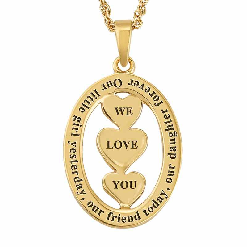 Our Daughter We Love You Diamond Pendant 2965 007 4 3