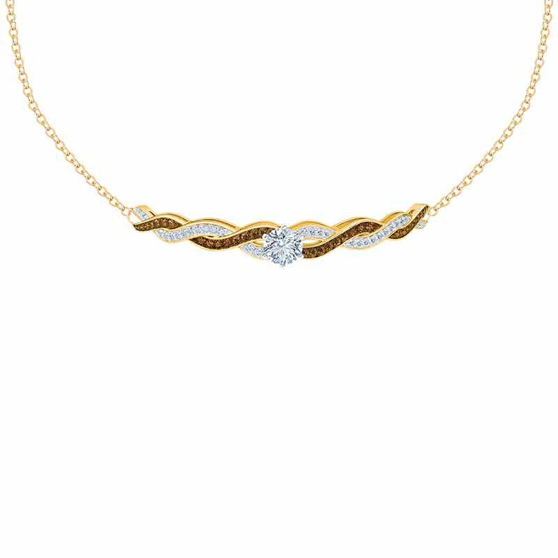 Mocha Swirl Diamonisse Necklace 1010 010 5 1