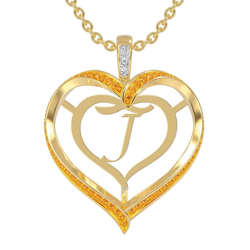 Personalized Birthstone Diamond Pendant 10138 0012 k november