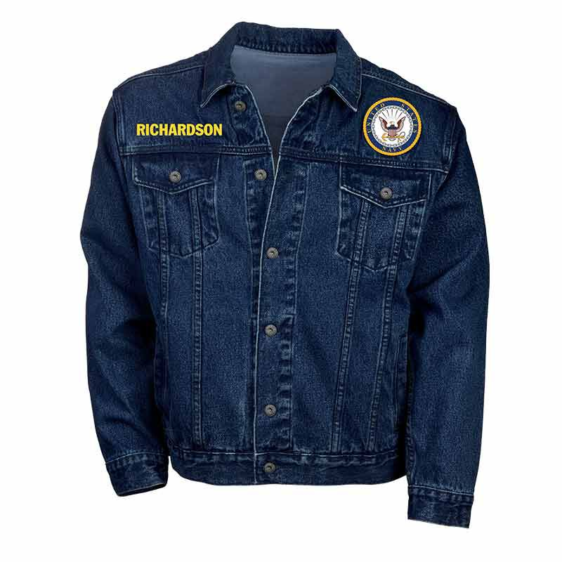 The Personalized Mens US Navy Denim Jacket 1365 002 3 1