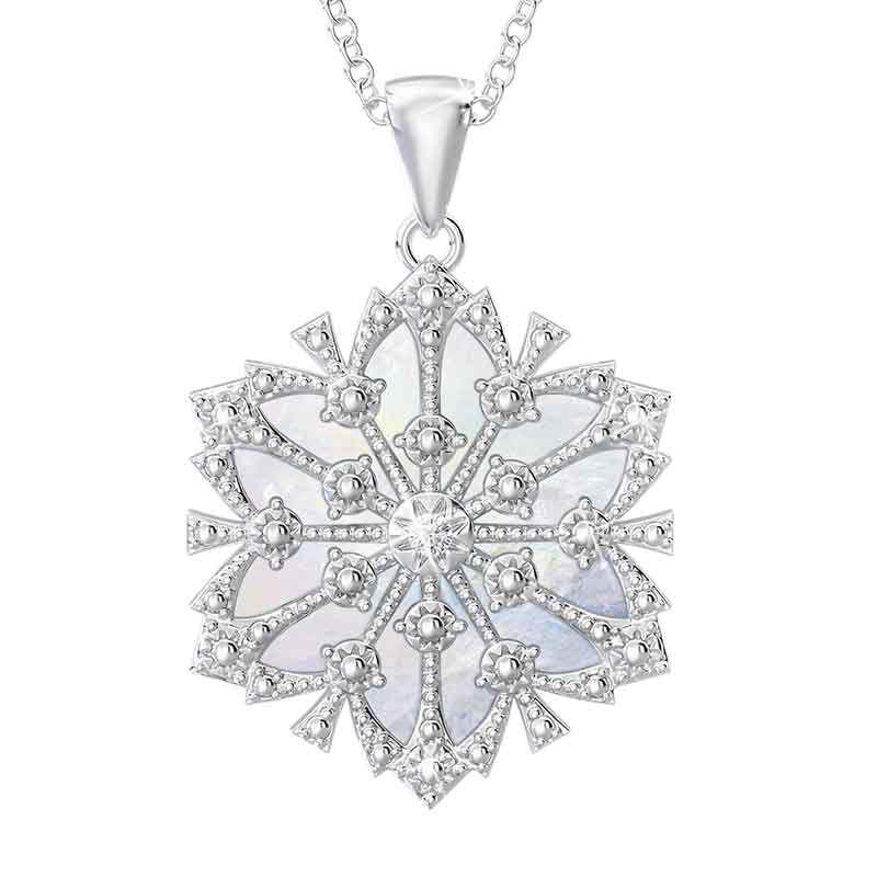 Daughter Diamond Snowflake Pendant 1195 001 1 1
