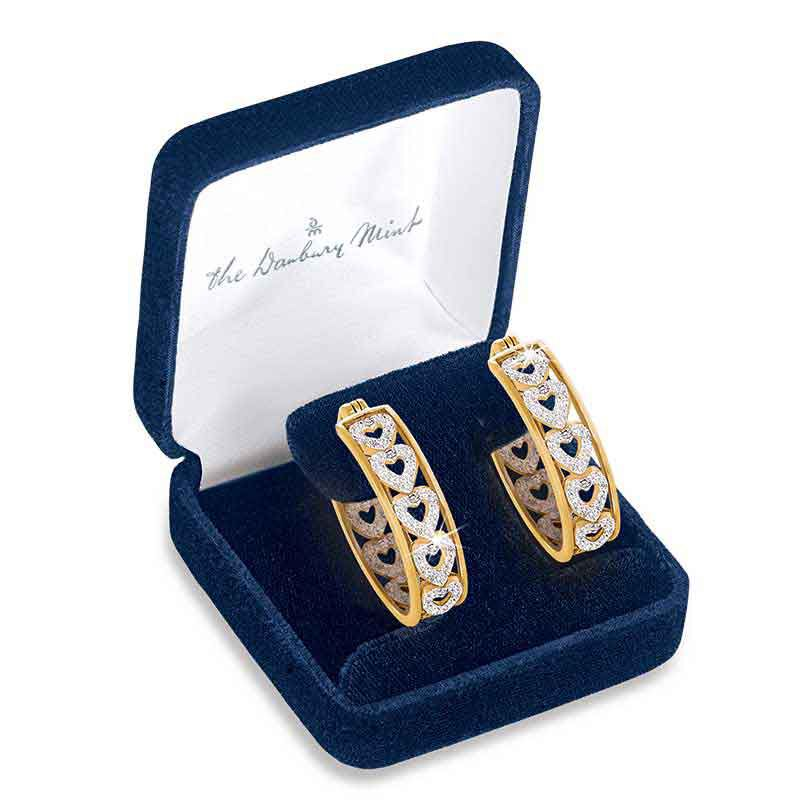Diamond Hearts Hoop Earrings 1800 001 8 3