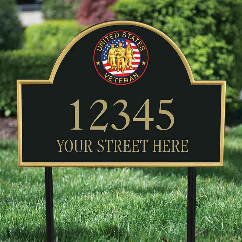 US Veterans Personalized Address Plaque 5718 005 1 2