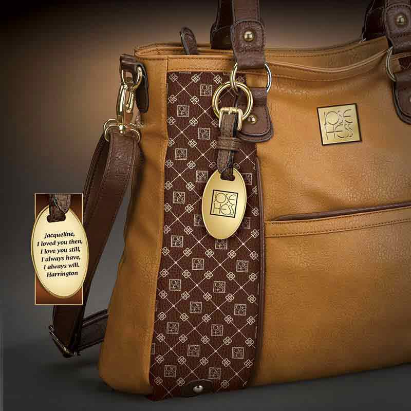 Personalized I Love You Handbag   Brown 5158 002 5 3