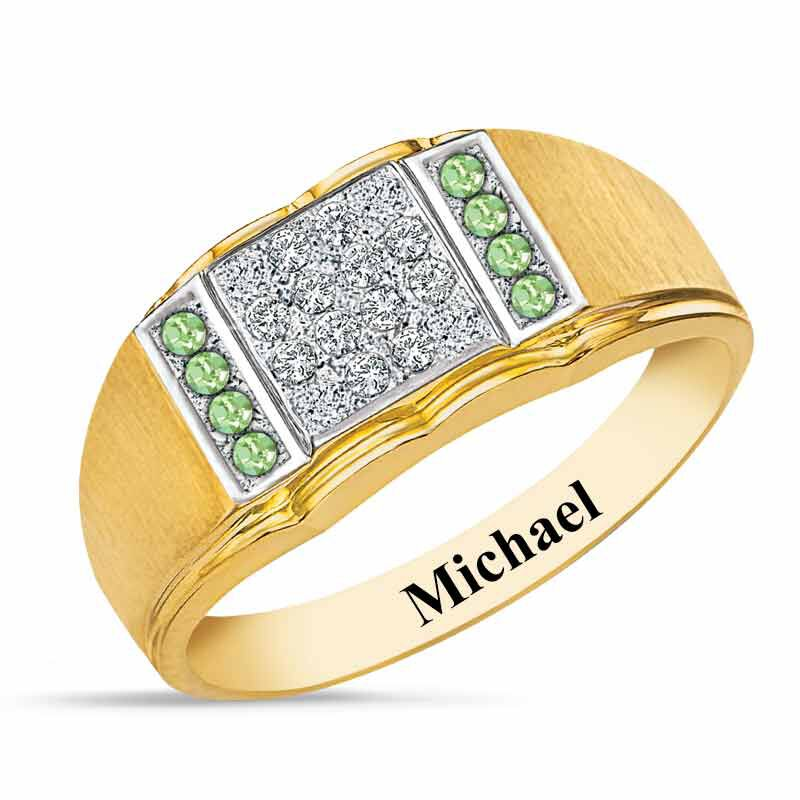 Birthstone Diamond Ring 5211 001 2 8