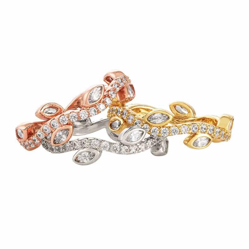 Leaves of Luxury Eternity Ring Set 6143 001 3 2