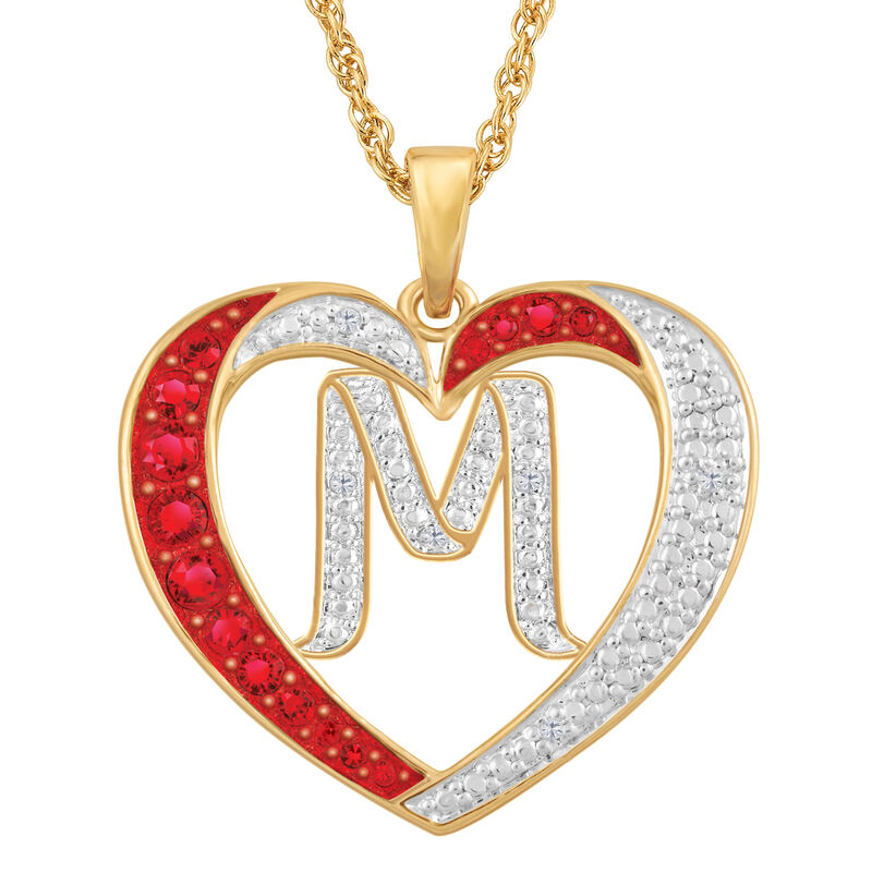 Personalized Diamond Initial Heart Pendant with FREE Poem Card 2300 0060 m initial
