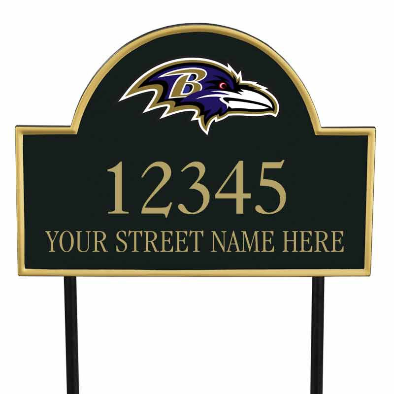 The NFL Personalized Address Plaque 5463 0355 y ravens