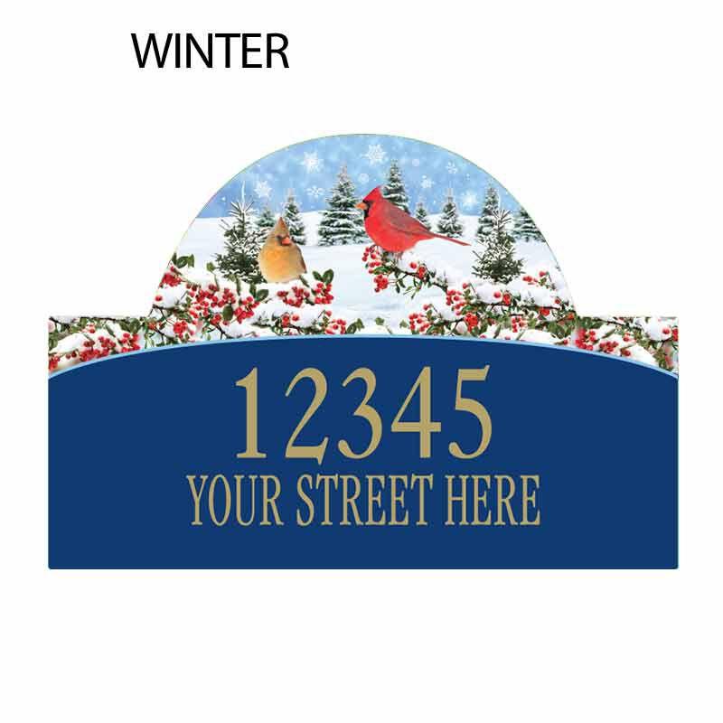 Seasonal Sensations Personalized Address Plaque 1919 002 4 4