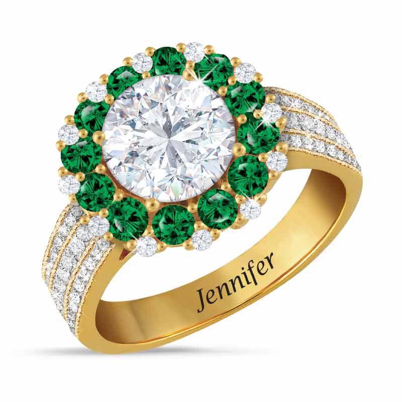 Birthstone Beauty Diamonisse Halo Ring 4924 001 3 5