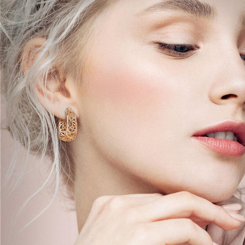 Cool n Copper Hoop Earrings 6745 0015 m model