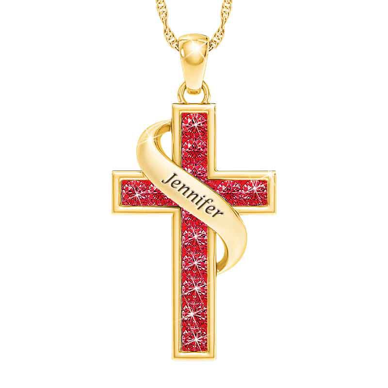 Personalized Birthstone Cross Pendant 5657 001 3 7