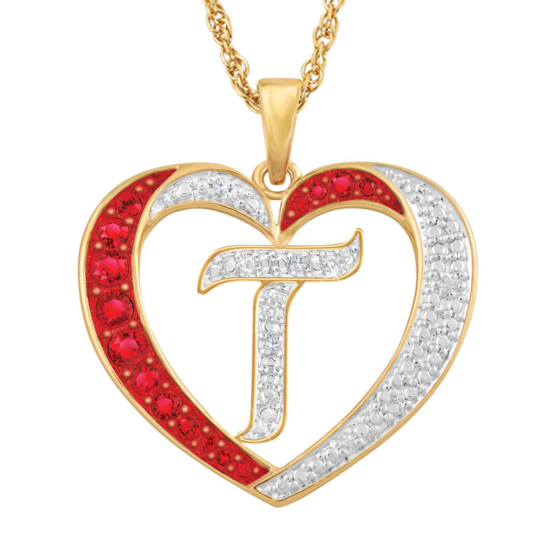 For My Daughter Diamond Initial Heart Pendant 10119 0015 a t initial