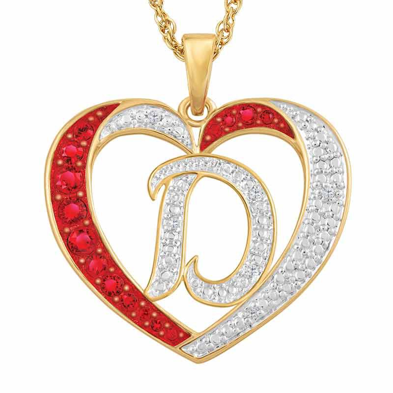 Personalized Diamond Initial Heart Pendant 2300 001 1 3
