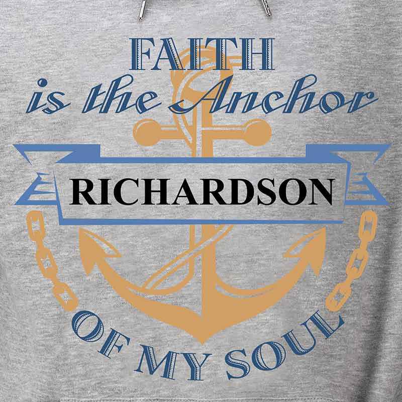 Faith is My Anchor Personalized Hoodie 6298 001 6 2